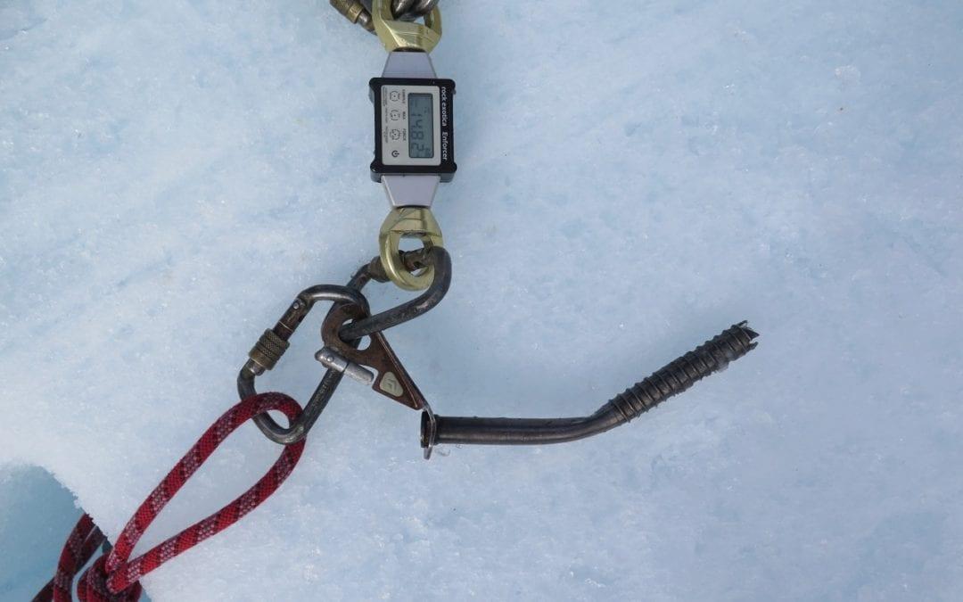 Ice Anchor Testing Fox Glacier